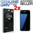 2 x GENUINE Tempered Glass Screen Protector Film for Samsung Galaxy S7 & S7 Edge