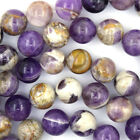 "Natural Amethyst Round Beads Gemstone 15.5"" Strand 6mm 8mm 10mm 12mm 14mm 16mm"