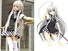 Anime Maid Costume Cosplay Haiyore! Nyaruko-san Black White Skirt Maid Dress