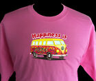 Happiness is Volkswagon bus T shirt van hippie peace love VW flower power