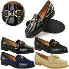 LOAFERS BROGUES LOW HEEL SHOES WOMENS LADIES SCHOOL FORMAL PUMPS TWO TONE SIZE