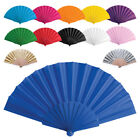 Wedding Bridal Party Folding Chinese Japanese Plastic Fabric Hand Held Dance Fan