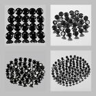 0.8mm Lot 20,30,50,100pcs Round Cut Calibrated Size Genuine Natural BLACK SPINEL
