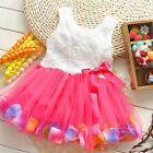 Girls Super Beautiful Flower Fairy Dresses Children Clothing Color Petal Gift