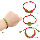 Chinese Feng Shui Red String Wealth Bless Lucky Coin Charm Bracelet Adjustable