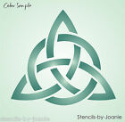 STENCIL Celtic Trinity Heart Knot Triangle Design Triple Unity Love Triquetra