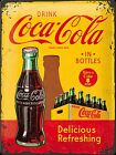Coca Cola In Bottles (crate) large embossed metal sign 400mm x 300mm (na)