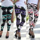 Women's Plus Size Vintage Print Leggings Multi-Color Long Soft Yoga Skinny Pants