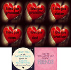 GLASS COASTERS - FRIENDS & FAMILY Messages - High Quality Printed Designs (Gift)