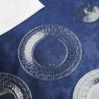 """Plastic 6"""" Clear ROUND PLATES Basketweave Party Wedding D..."""