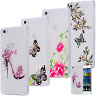 SLIM TPU CASE STRASS GLITTER COVER GEL SKIN TRANSPARENT CLEAR HUAWEI
