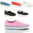 UNISEX VANS AUTHENTIC LO TOP CANVAS SNEAKER LACE UP SKATE TRAINERS SHOES SIZE