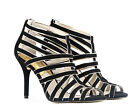 Michael Kors Tatianna Suede Leather Back Zip Sandal Shoes Brand New With Box