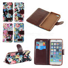 Magnetic Flip Flower Leather Wallet Pouch Stand Case Cover For iPhone 6 6s