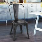 Adeco Trading Stackable Dining Side Chair Set of 2