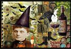 Caroline's Treasures Broom Rides and Spells Halloween Mat