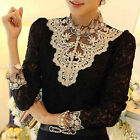 HOT Women's Clothing Long Sleeve Lace Tops Shirt Blouse Ladies Korean Fashion