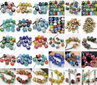 Murano Lampwork Glass European Rondelle Spacer Charm Beads Jewelry Findings DIY