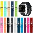 23mm Silicone Rubber Sport Watch Band Wrist Strap For Fitbit Blaze Tracker S & L