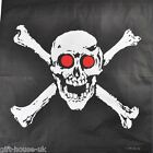 Red-Eye Crossbones Skull Bandana Headwear Bandanna Scarf Wrist Wrap Headtie B3