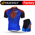 006 Nuckily Men's Mountain Bike Sports Short Sleeves Cycling Jersey+Shorts Set