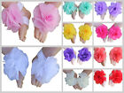 Baby Barefoot Sandals Rose Flower Shoes Foot Band Handmade Newborn Photo Prop