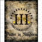 """POWER IN NUMBERS"" IIIpers-T-Shirt -SIZE LARGE-2nd Amendment -PROTEST-AR15 TRUMP"