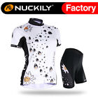 Nuckily Women's Water Drop Summer Sport Cycling Jersey+Shorts Short Sleeves Set