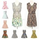 Sexy Women Summer Casual Beach Sleeveless Party Chiffon Mini Dress Sundress S-L