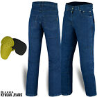 Mens Motorcycle Motorbike Jeans Denim Reinforced with Protective Kavlar Lining