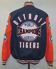 Detroit Tigers MLB Men's Snap Mid Weight World Series Cloth Jacket on Ebay
