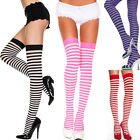 Stripe Opaque Thigh High Stockings One Size Regular  ML4741