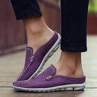 2016 Fashion Men/Women Lovers leather Slippers Set foot Casual Shoes 4Colors