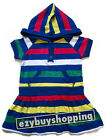 Butterfly Blue Striped Hooded Summer Girls Dress