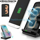 3 Coils Qi Wireless Charging Charger Pad Stand Holder For Samsung Galaxy S7/S6