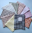 "Sferra PICCADILLY Cocktail Napkins Gingham Check SET/4 Linen 6x9"" -Select color!"