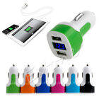 Dual USB Car Charger Adapter LED Display Voltage DC 5V 3.1A Tester For iPhone