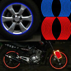 16 Strips Wheel Sticker Reflective Stripe Tape Bike Motorcycle Car Night Safe