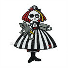 Halloween Witch Girl Skull Cartoon Sew on Iron On Badge Applique Patch Sewing
