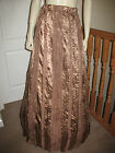 Victorian/Edwardian Long Skirt ( Bronze Satin & Lace )