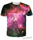 New fashion women men Space galaxy 3D Printed Short Sleeve Tee Casual T-Shirt