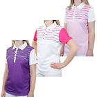 Island Green 2016 Ladies IGLTS1484 Sublimated Performance Tech Golf Polo Shirt
