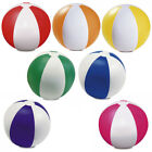 6 x Inflatable Blowup Colour Panel Beach Ball Holiday Party Swimming Garden Toy