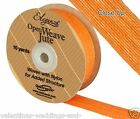 Full Roll Open Weave Jute Ribbon x 10yds - Orange - Craft Vintage Wedding