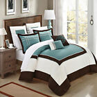 Ballroom Green, Brown & White 11 Piece Comforter Bed In A Bag Set
