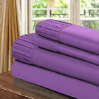 Chic Home Pleated Microfiber Sheet Purple - Twin, Full, Queen, King