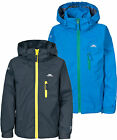 Trespass Kelson Boys Jacket Waterproof Grey & Blue