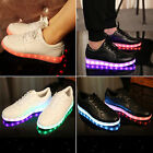 7Colors LED Light Lace Up Luminous Shoes Sportswear Sneaker Fashion Casual Shoes