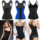 Sport Latex Waist Trainer Cincher Corset BodyShaper Black Blue Shapewear S-6XL F