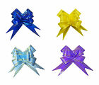 10 x 30mm PULL BOWS PARTY WEDDING ANNIVERSARY CHRISTMAS GIFT WRAP DECORATIONS